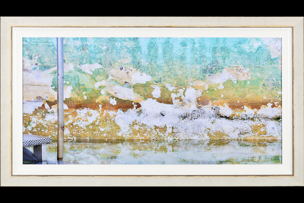 rustic off-white frame acrylic print